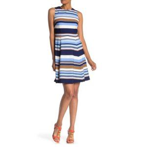 Vince Camuto Striped Sleeveless Fit & Flare Dress